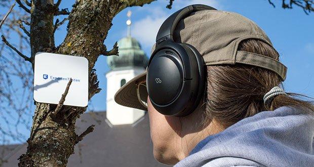 Mu6 Bluetooth Kopfhörer Space2 im Test - verwendet einen speziellen hochdichten Memory-Schaum in der Ohrhörerpolsterung, um Geräusche zu isolieren