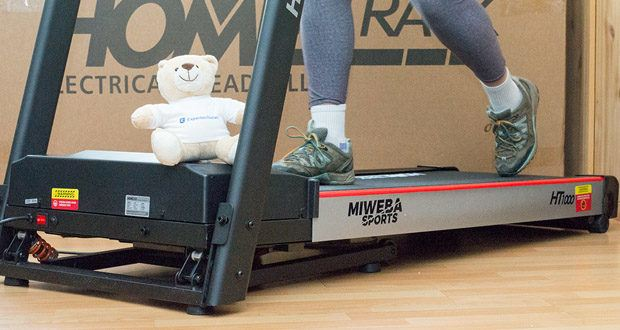 Das elektrische Laufband HT1000F von Miweba Sports für Zuhause