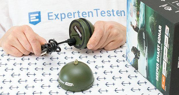 Deeper CHIRP+ Smart Sonar GPS-Fischfinder Set im Test - mit USB-Kabel alle 6 Monate aufladen