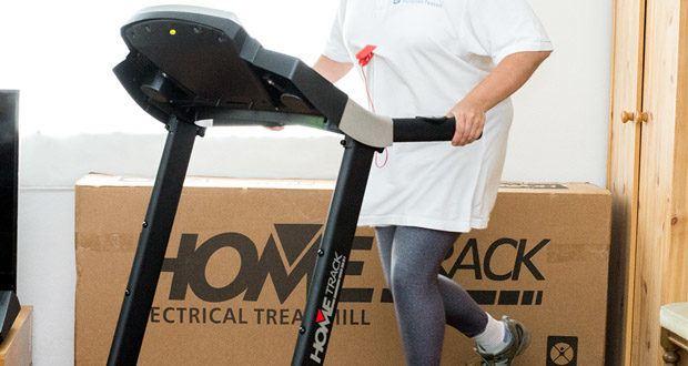 Miweba Sports Laufband Home Track HT1000F mit incline - trotz großzügiger Lauffläche und umfangreicher Ausstattung ist dieser Heimtrainer äußerst flexibel