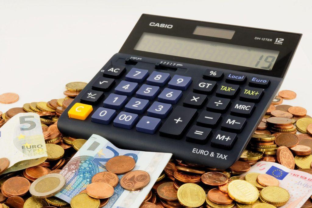Euro-Geld-kalkulieren