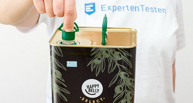 Happy Belly Select Natives Olivenöl extra im Test - Zutaten: Natives Olivenöl extra Chania Kritis g.g.A.