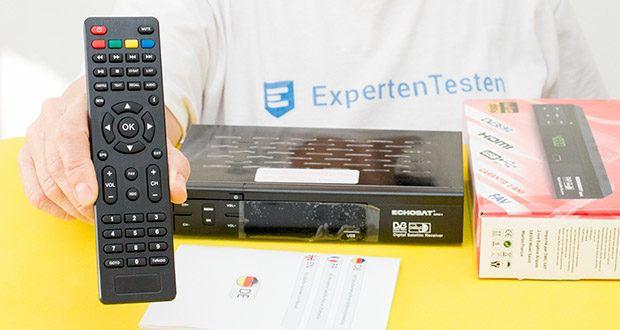 Echosat 20700 S Digitaler HD Satelliten Receiver im Test - eine effektive Fernbedienung