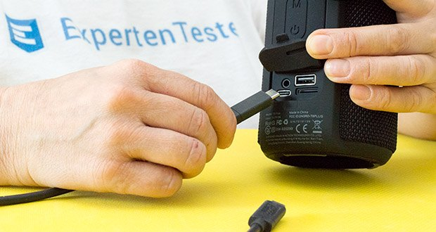 Tronsmart T6 Plus Bluetooth Lautsprecher im Test - Notladung (Power Bank Funktion)