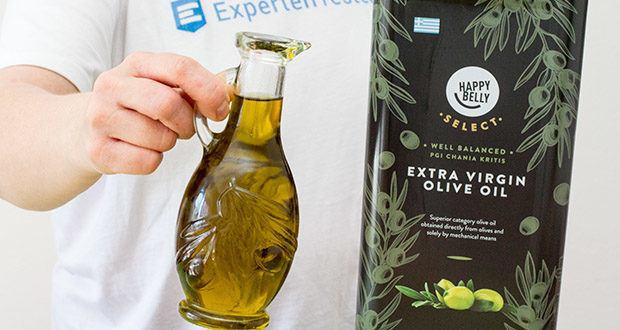 Happy Belly Select Natives Olivenöl extra im Test - kaltgepresst für einen weniger säuerlichen Geschmack