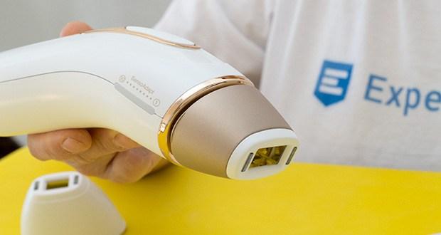 Braun Silk-Expert Pro 5 IPL-Haarentfernungsgerät im Test - im sanften und extra-sanften Modus ist die Energiestufe reduziert, was sich ideal für Einsteiger und die Behandlung empfindlicher Bereiche eignet