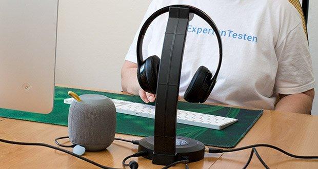 EasyAcc Kopfhörerhalter Headset Halterung im Test - der ist kampatibel mit Win7/Win8/Win10/Vista/Mac/Linux und anderen Betriebssystemen