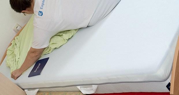 Emma One Matratze 90x200cm im Test - auch das angenehme Schlafklima wird durch die Luftdurchlässigkeit des Matratzenbezugs gefördert