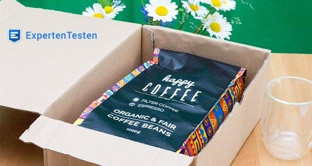 Happy Coffee Bio Espressobohnen - diese Bohnen sind zu 100% aus sortenreine Single Origin Arabica Bohnen und stammen aus der Region Chiapas, Mexiko