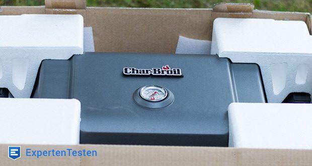 Char-Broil GRILL2GO X200 - Deckelthermometer dient zum Überwachen des Aufheizvorgangs und zur Kontrolle der inneren Grilltemperatur