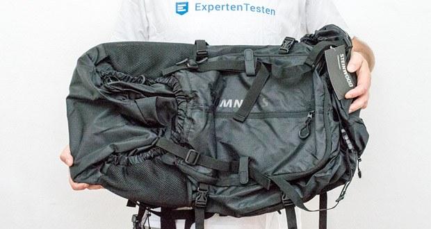 Steinwood Trekkingrucksack 70L im Test - das Hauptfach lässt sich von vorne öffnen und daher extrem leicht packen
