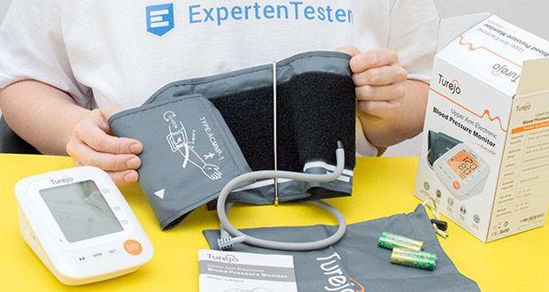 Turejo Oberarm Blutdruckmessgerät im Test - Klettverschluss für einfache Einhandmessung
