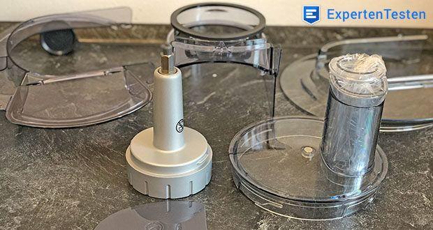 Kenwood Cooking Chef Gourmet KCC9060S Küchenmaschine im Test - spülmaschinenfeste Zubehörteile aus Edelstahl