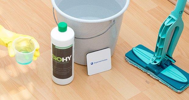 BIOHY Bodenreiniger im Test - ideal für alle wasserbeständigen Böden