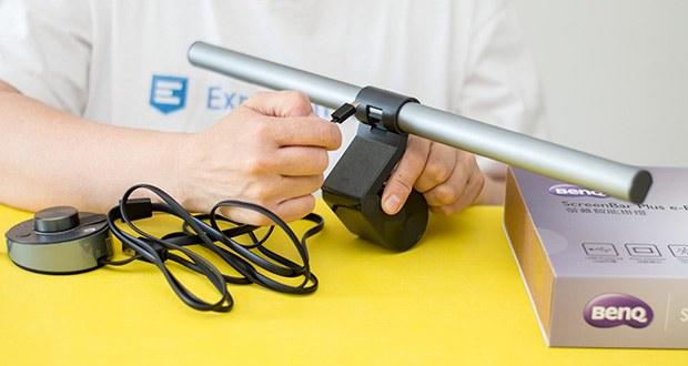 BenQ ScreenBar Plus LED-Monitor-Lampe im Test - werden störende Lichtreflexe auf dem Bildschirm vermieden