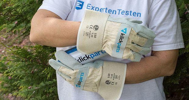 Klickparts Schutzhandschuhe Basic im Test - sehr angenehmer Tragekomfort durch das weiche Rindleder