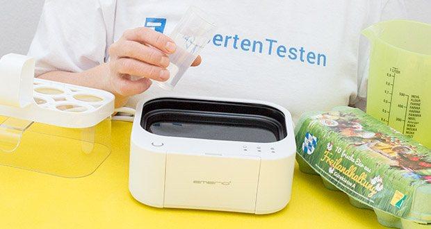 Emerio Eierkocher im Test - ermöglicht es Ihnen, bis zu 6 Eier gleichzeitig zu kochen, indem er den Punkt perfekt kontrolliert, den Sie wollen