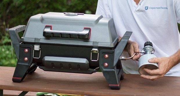 Char-Broil GRILL2GO X200 - mit einer tragbaren Schraub-Gaskartusche zu betreiben