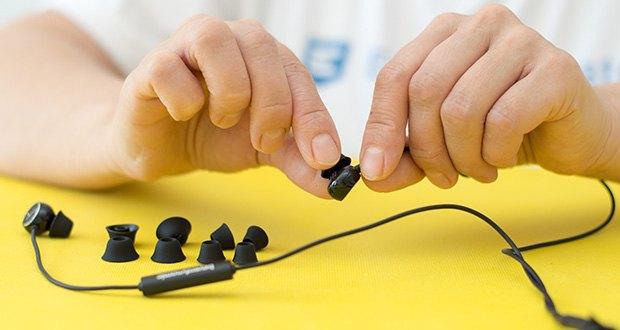 Beyerdynamic SOUL BYRD Kabelgebundener In-Ear im Test - fünf Paar Ohrpassstücke in den Größen XS, S, M, L und XL garantieren dir die individuell richtige Passform