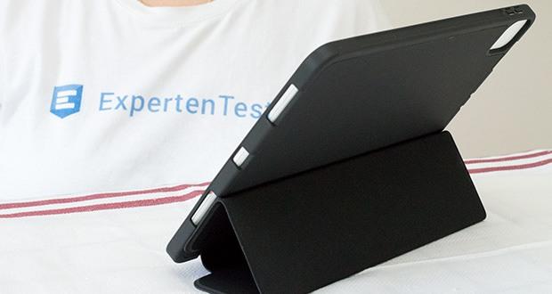 EasyAcc Hülle für iPad Pro 11 im Test - fixiert ihr Gerät in einem idealen Betrachtungswinkel oder in angenehmer Position um zu schreiben