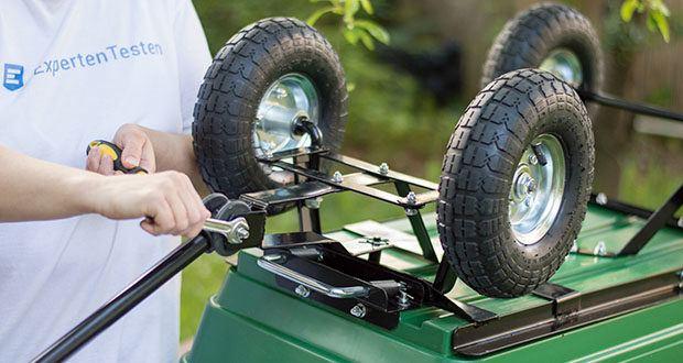 Izzy Sport Bollerwagen im Test - der Clou besteht in der praktischen Kippfunktion