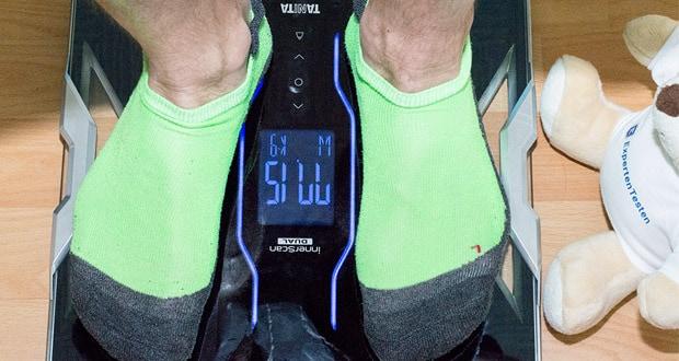 Tanita intelligente Waage RD-953 - Gewichtszunahme: 50 g