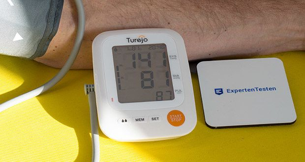 Das automatische Oberarm Blutdruckmessgerät von Turejo im Test