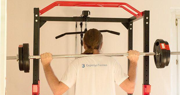 Wellactive Power Rack Kraftstation im Test - für Einsteiger, Fortgeschrittene und Profis: gezielte Übungen für Rücken-, Schulter-, Brust- und Bauchmuskeln