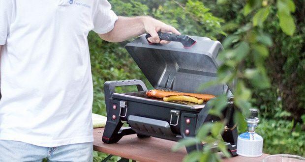 Tragbarer Gasgrill GRILL2GO X200 von Char-Broil grillt das Grillgut gleichmäßig und verhindert unkontrolliertes Aufflammen