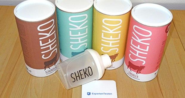 SHEKO Eiweißpulver im Test - in SHEKO stecken 70 % Eiweiß aus Kuhmilch, wichtige Mineralien & Vitamine, 0 % Gluten & 100 % Geschmack