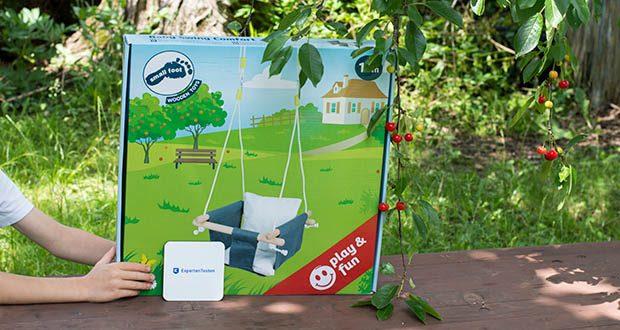 small-foot Babyschaukel Komfort im Test - Maße: Seil Länge: ca. 116 cm, Schaukel ca. 33 x 33 x 58 cm
