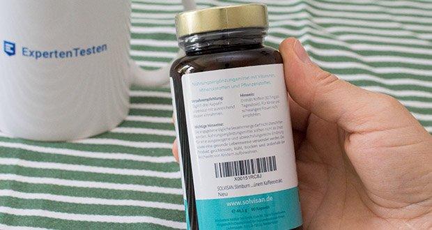 SOLVISAN Slim BRN im Test - Koffein aus natürlichen Quellen: In unseren Extrakten aus Grünem Tee, Guarana und Mate sind insgesamt 92,7 mg Koffein je Tagesdosis enthalten
