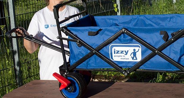 Izzy Bollerwagen faltbar im Test - mit nur einem Handgriff