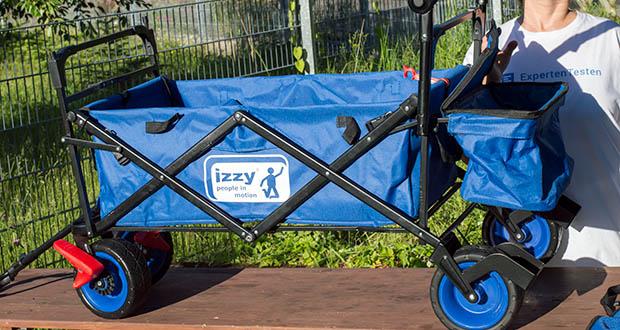 Izzy Bollerwagen faltbar im Test - integrierte Taschen