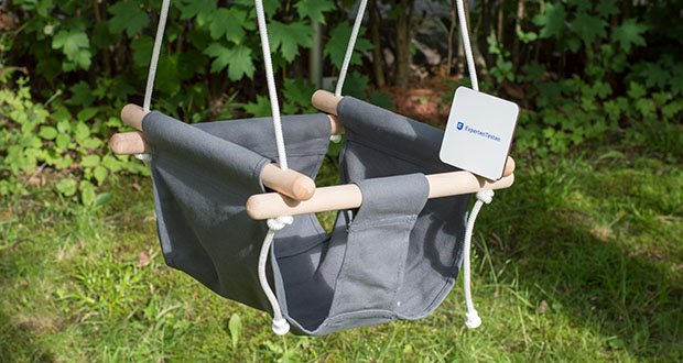 small-foot Babyschaukel Komfort im Test - kommt bereits zusammengebaut