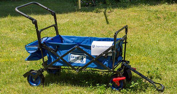 Izzy Bollerwagen faltbar im Test - Bezug: 100% Polyester in blau