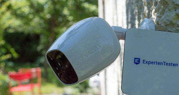 Vacos Akku WLAN Security Kamera im Test - Benutzer können die bewegungsgesteuerten Videos im integrierten lokalen Speicher von 16 GB speichern