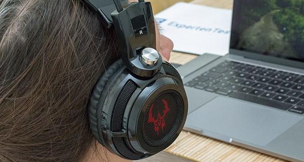 EasyAcc G1 Gaming Headset im Test - 7.1 Surround Stereo Sound: Durch die integrierte Soundkarte haben Sie das Gefühl live dabei zu sein