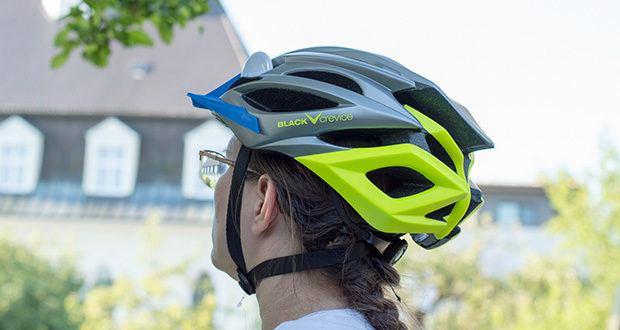 Blackcrevice Fahrrad- & Mountainbike Helm im Test - durch die aktive Belüftung wird die Luftzufuhr gleichmäßig verteilt und somit kommt es auch bei anstrengenden Anstiegen nicht zum unangenehmen Hitzestau