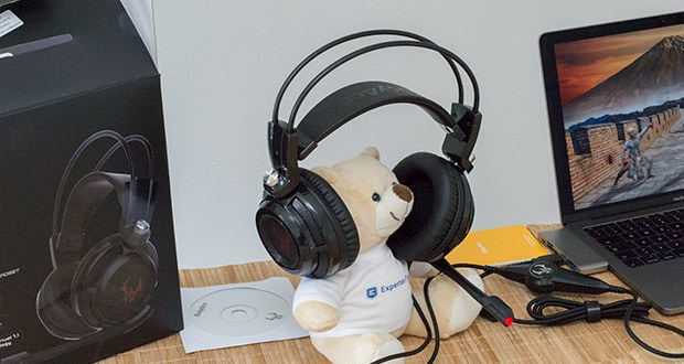 EasyAcc G1 Gaming Headset im Test - das einstellbare Mikrofon kann in der Lage frei eingestellt werden