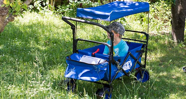 Izzy Bollerwagen faltbar im Test - vielseitig einsetzbar, ob zum Transportieren der Einkäufe, zum Familienausflug und sollte in jedem Haushalt sein
