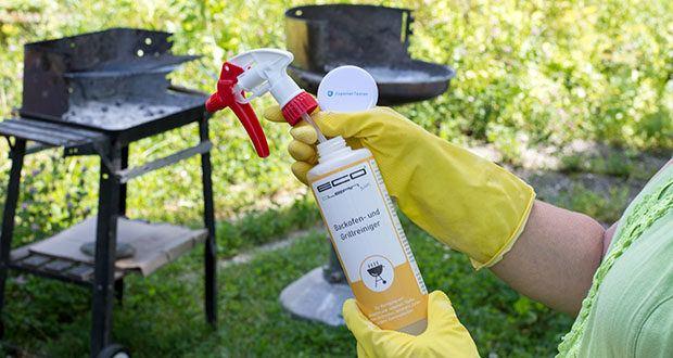 ECO clean by LcM® Backofen- und Grillreiniger 500ml im Test - kein umständliches einarbeiten des Reinigungsmittel, dank mitgelieferten Sprühkopf