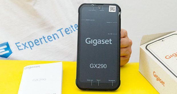 Gigaset Outdoor Smartphone GX290 im Test - das Display ist kratzfest und schmutzabweisend und robust genug, um thermische Schocks zu überstehen