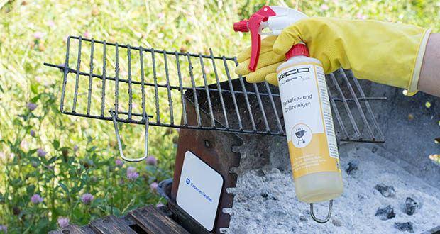 ECO clean by LcM® Backofen- und Grillreiniger 500ml im Test - die zu reinigende Fläche einsprühen; je nach Verschmutzung 10-20 Minuten einwirken lassen