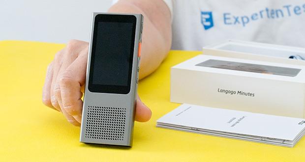 Langogo Minutes Sprachübersetzer und Diktiergerät im Test - nach der Verbindung mit einem Wi-Fi-Hotspot ist das Gerät sofort einsatzbereit