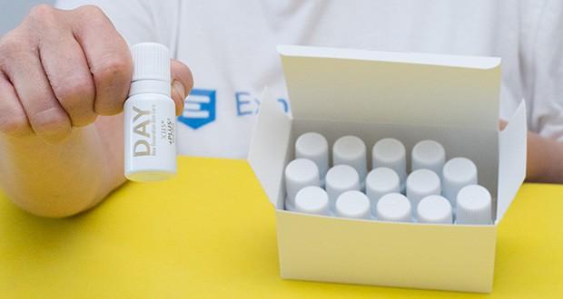 X115+Plus Skin Care Set im Test - Flakons Day: Enthalten Resveratrol, α-Liponsäure, Coenzym Q10, Echinacea-Extrakte, pflanzliche Polyphenole aus aus Oliven und Kakaobohnen, Vitamine E, B6 und H