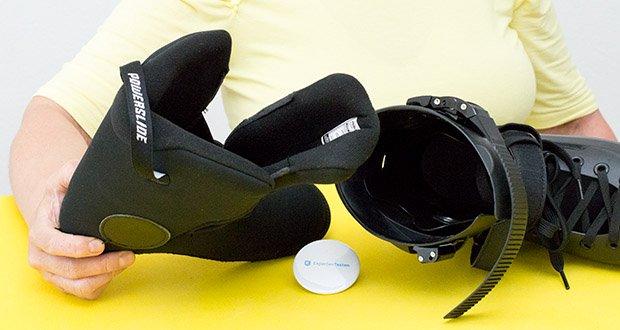 Powerslide Inlineskates Zoom Black 80 im Test - Innenschuh: herausnehmbar, Dual Fit