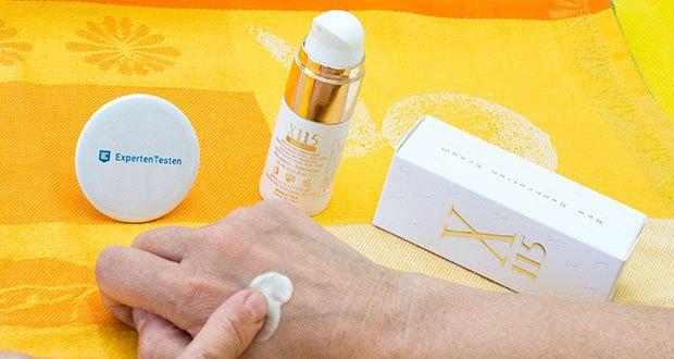 X115 Anti Aging Creme für Frauen im Test - ist perfekt abgestimmt auf die Bedürfnisse Ihrer Haut, egal, ob Sie gerade die ersten feinen Linien bemerken oder Mimikfalten loswerden wollen