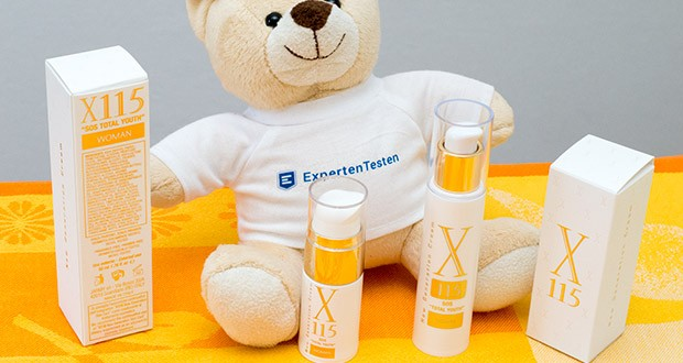 X115 Anti Aging Creme für Frauen im Test - dermatologisch getestet und ist frei von Parabenen, Gluten und Parfüm