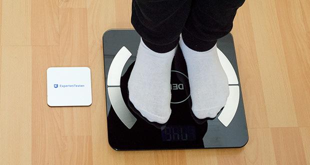 Deik Bluetooth Körperfettwaage im Test - 8 Nutzer werden automatisch von der Körperfettwaage Index erkannt